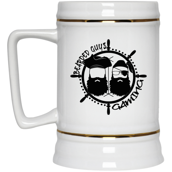 BeardedGuysGaming Pirate (Black Logo) Beer Stein 22oz.