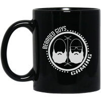 BeardedGuysGaming Dual Beard (White Logo) 11 oz. Black Mug