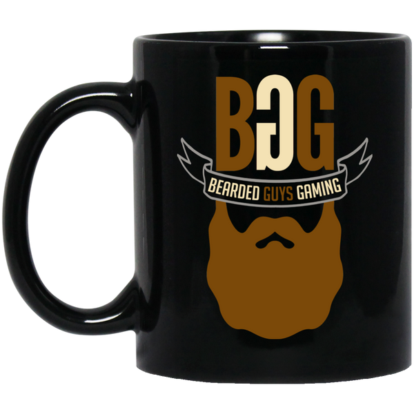 BeardedGuysGaming Single Beard Logo 11 oz. Black Mug