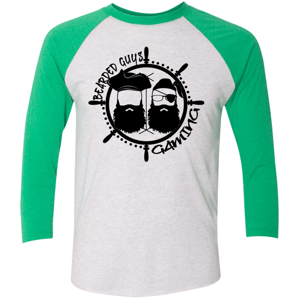 BeardedGuysGaming Pirate (Black Logo) Baseball Tee