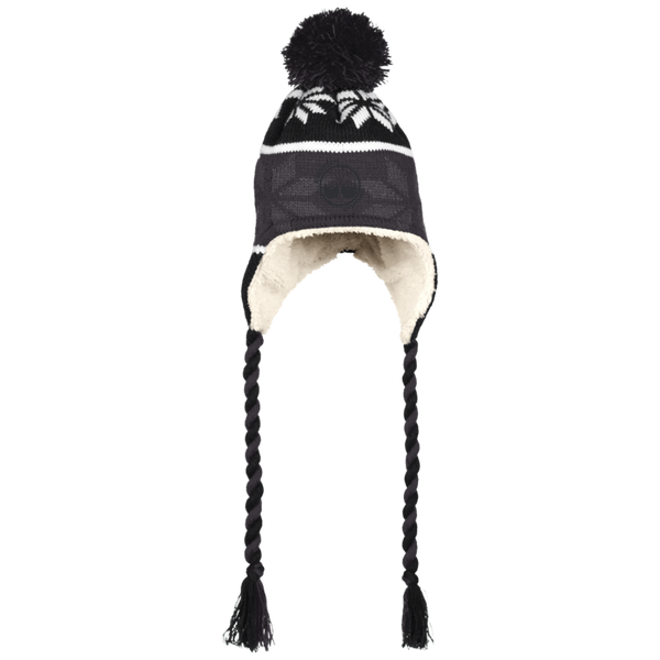 BeardedGuysGaming Dual Beard (Black Logo) Beanie with Ear Flaps and Braids