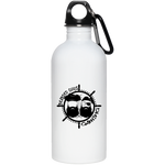 BeardedGuysGaming Pirate (Black Logo) 20 oz. Stainless Steel Water Bottle