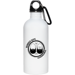 BeardedGuysGaming Dual Beard (Black Logo) 20 oz. Stainless Steel Water Bottle