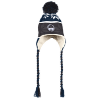 BeardedGuysGaming Dual Beard (White Logo) Beanie with Ear Flaps and Braids
