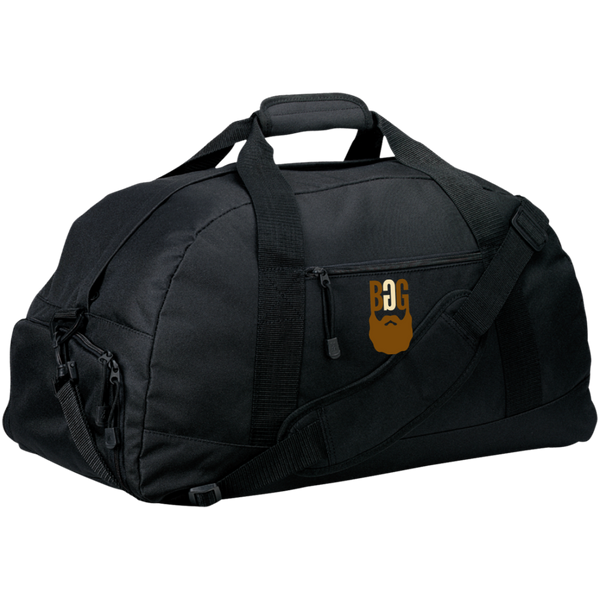 BeardedGuysGaming Single Beard Logo Basic Large-Sized Duffel Bag