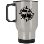BeardedGuysGaming Pirate (Black Logo) Silver Stainless Travel Mug