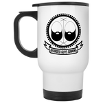 BeardedGuysGaming Vintage Logo White Travel Mug