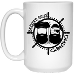 BeardedGuysGaming Pirate (Black Logo) 15 oz. Mug