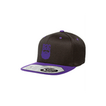 BeardedGuysGaming Black with Purple Snapback Hat