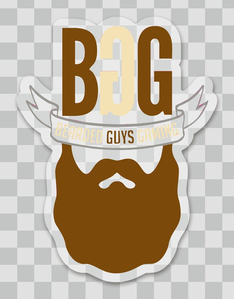 BeardedGuysGaming Single Beard Logo Sticker