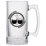 BeardedGuysGaming Dual Beard (Black Logo) Beer Glass 24oz.