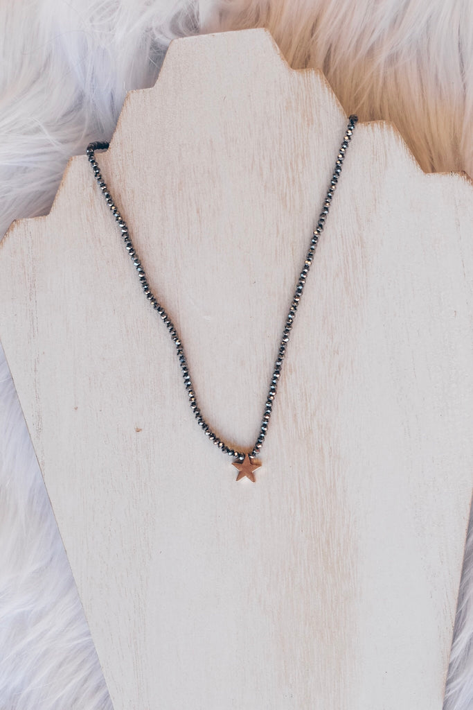 Beneath The Stars Necklace- Grey