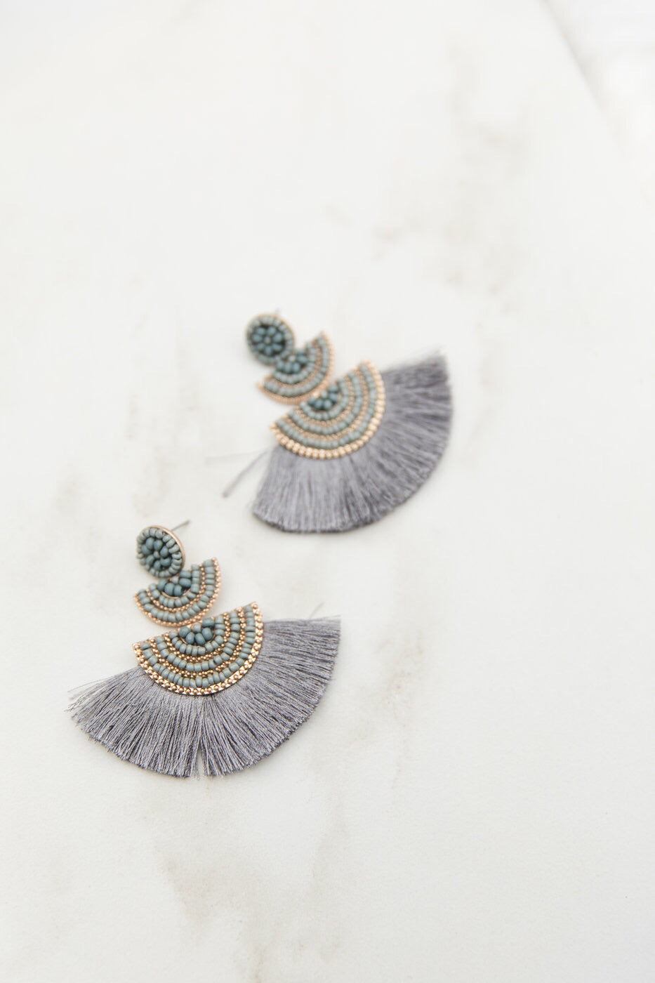 Chic Choices Earrings- Grey
