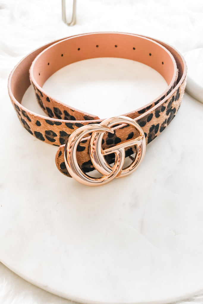 LA Luxury Belt- Leopard