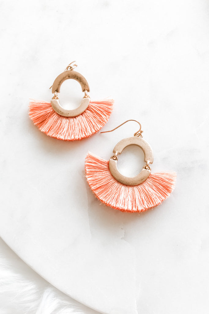Weekend Wear Earrings - Peach