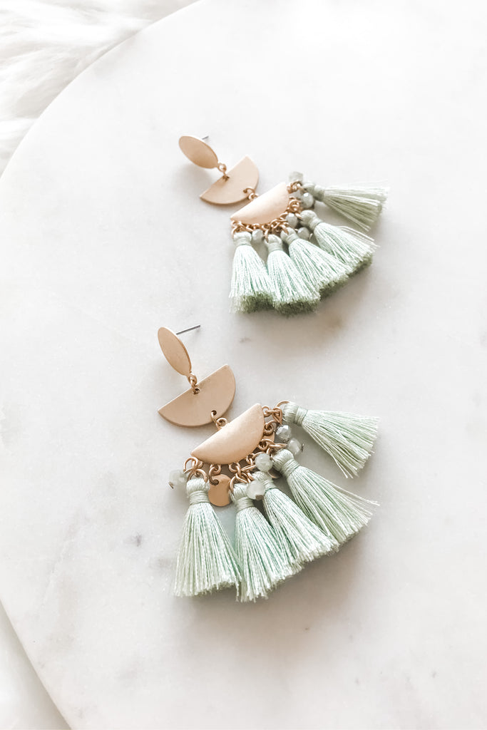 Looking For You Earrings- Mint