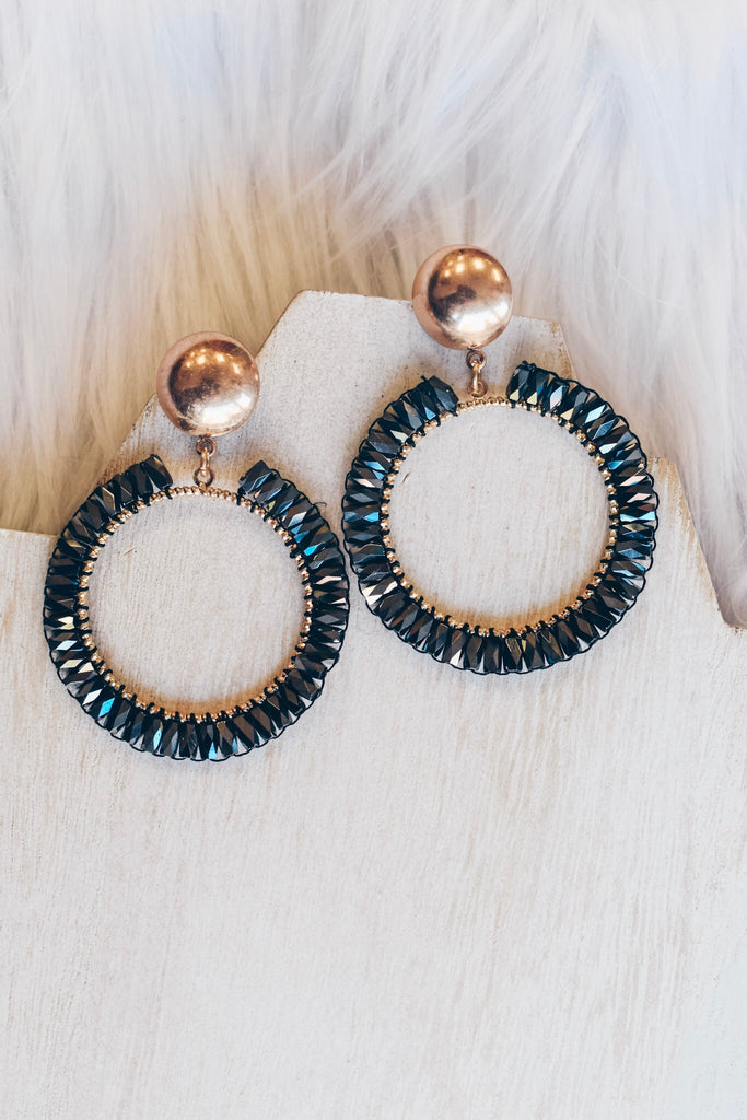 Disco Diva Earrings- Midnight
