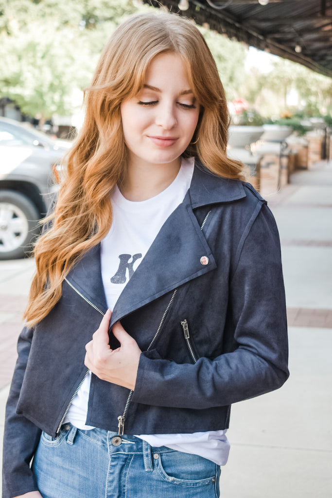 She's So Serious Jacket- Black