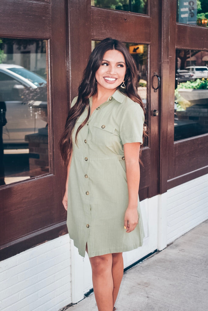 Find Someone Else Dress-Olive