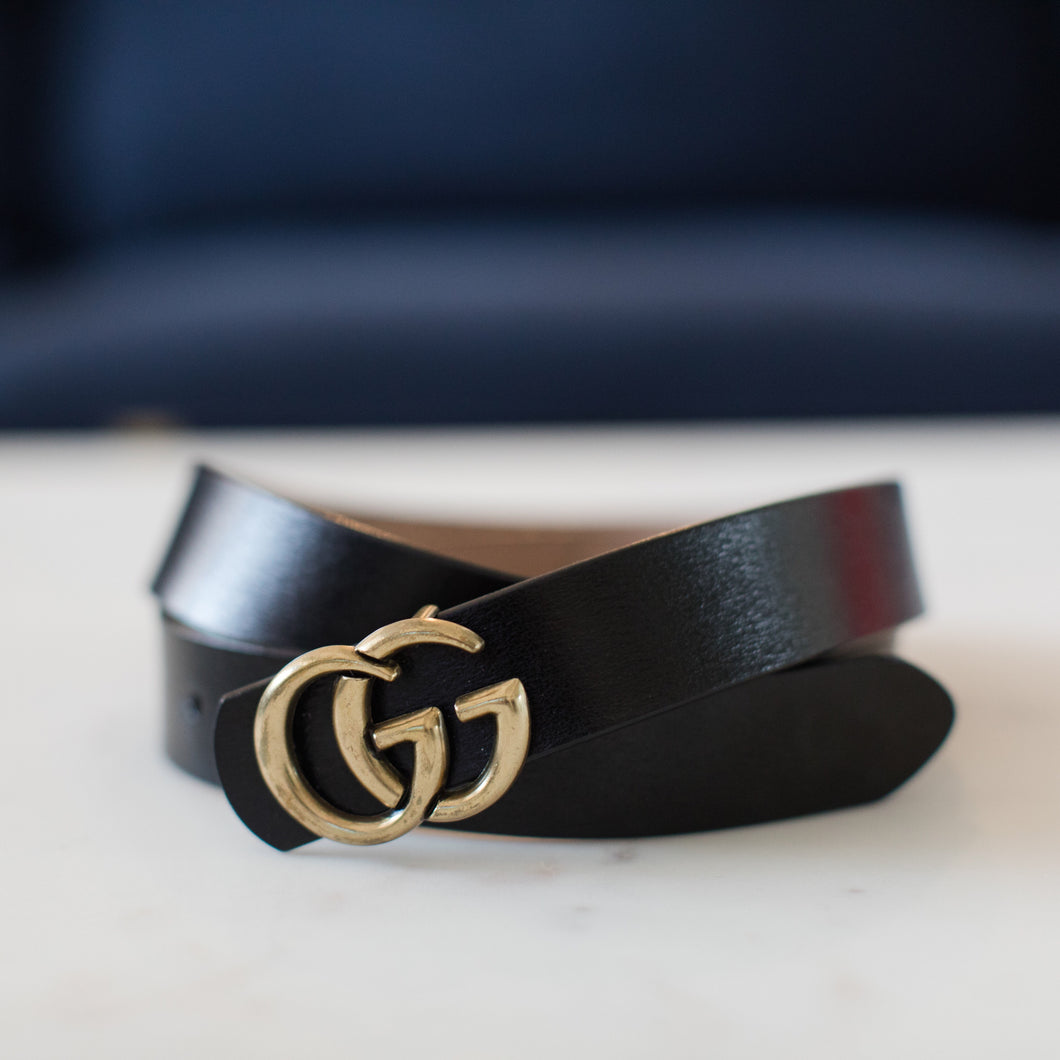 Double G Belt - Black