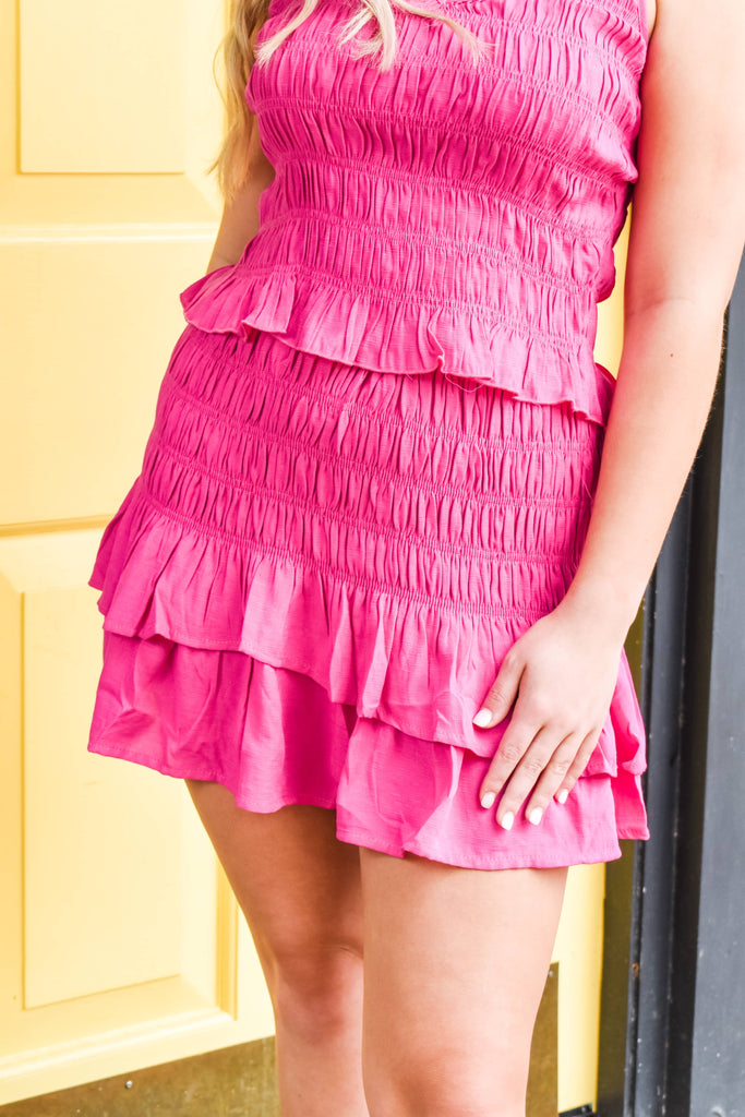 Tropic Like It's Hot Skirt- Hot Pink
