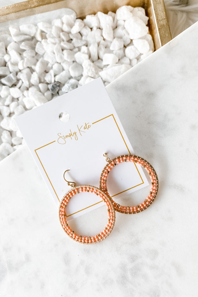 Ready To Bloom Earrings - Peach