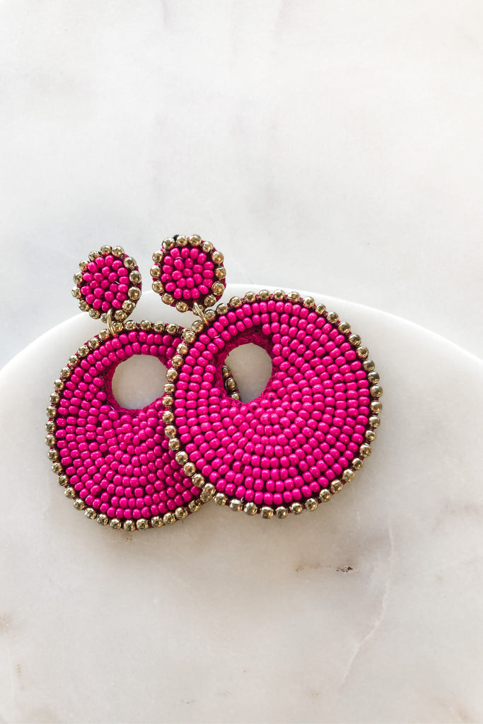 Bohemian Beauty Earrings - Pink