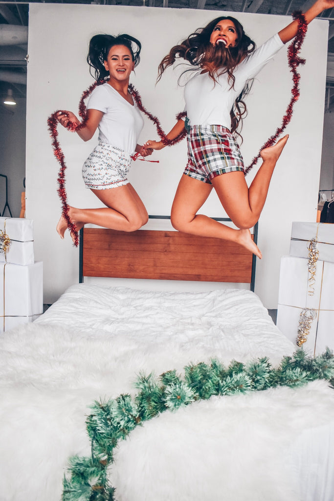 Christmas Plaid Pajama Shorts
