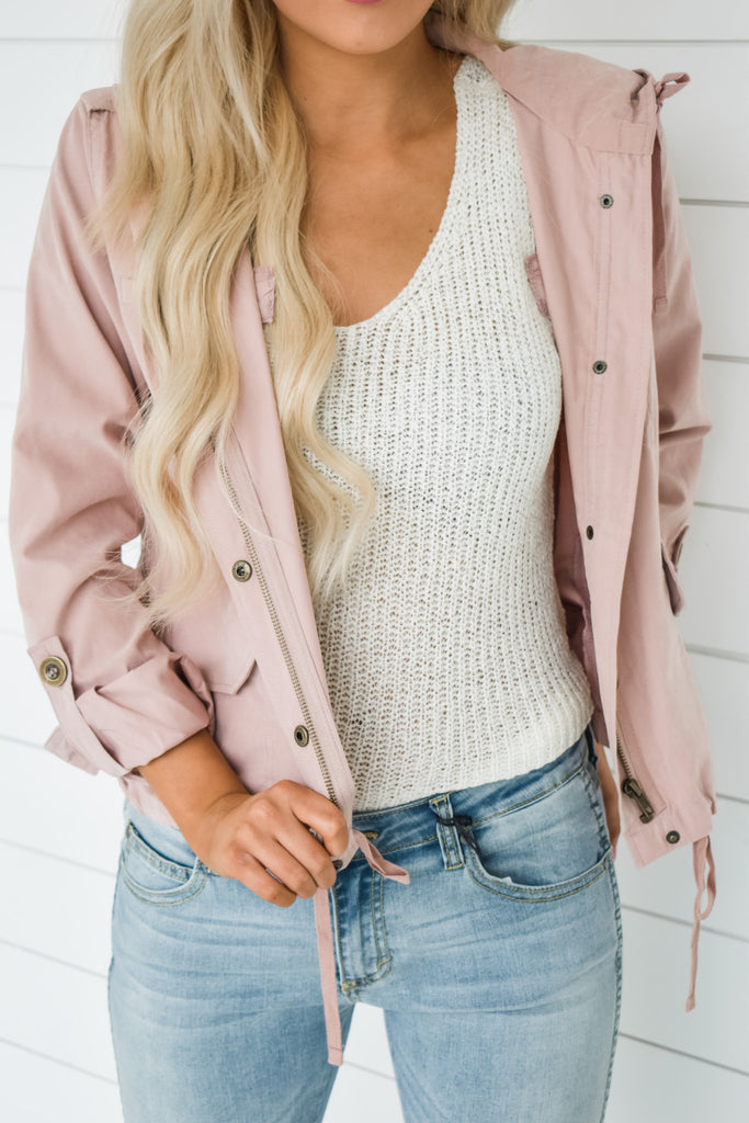 Sweetest Of All Jacket-Dusty Rose