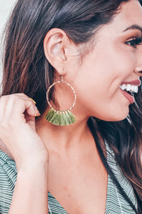Daringly Me Earrings - Olive