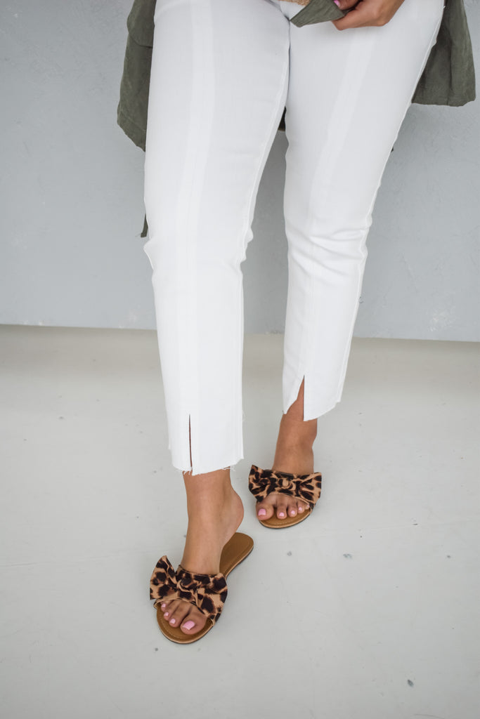 Chic Street White Denim Pants