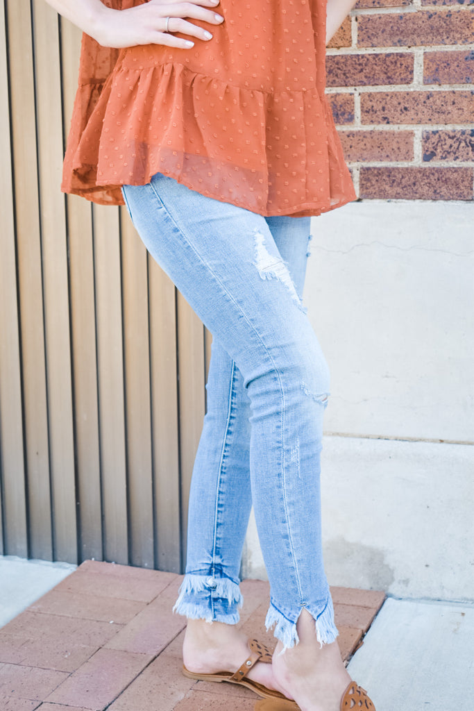 Make The Cut Ankle Skinny Jeans