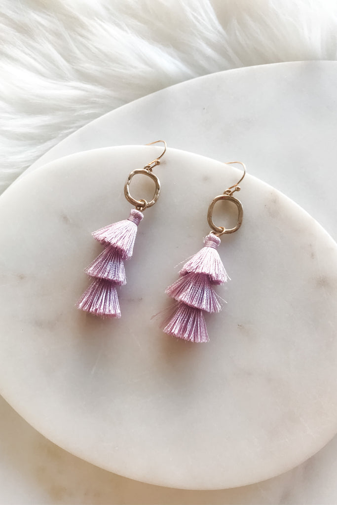 Sweet Sippin' Earrings- Lavender