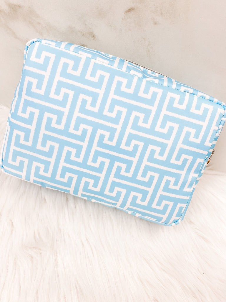 Big Glam Bag- Aqua Trellis