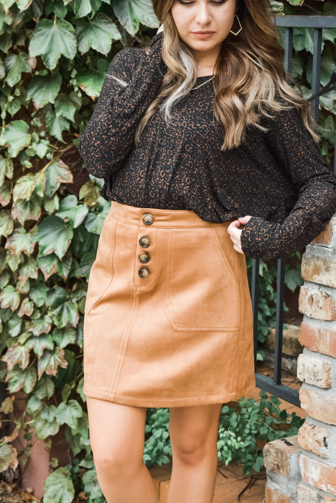 Day In The Orchard Skirt- Camel