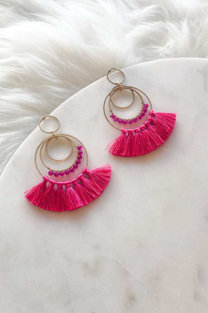 Mind Your Style Earrings- Pink