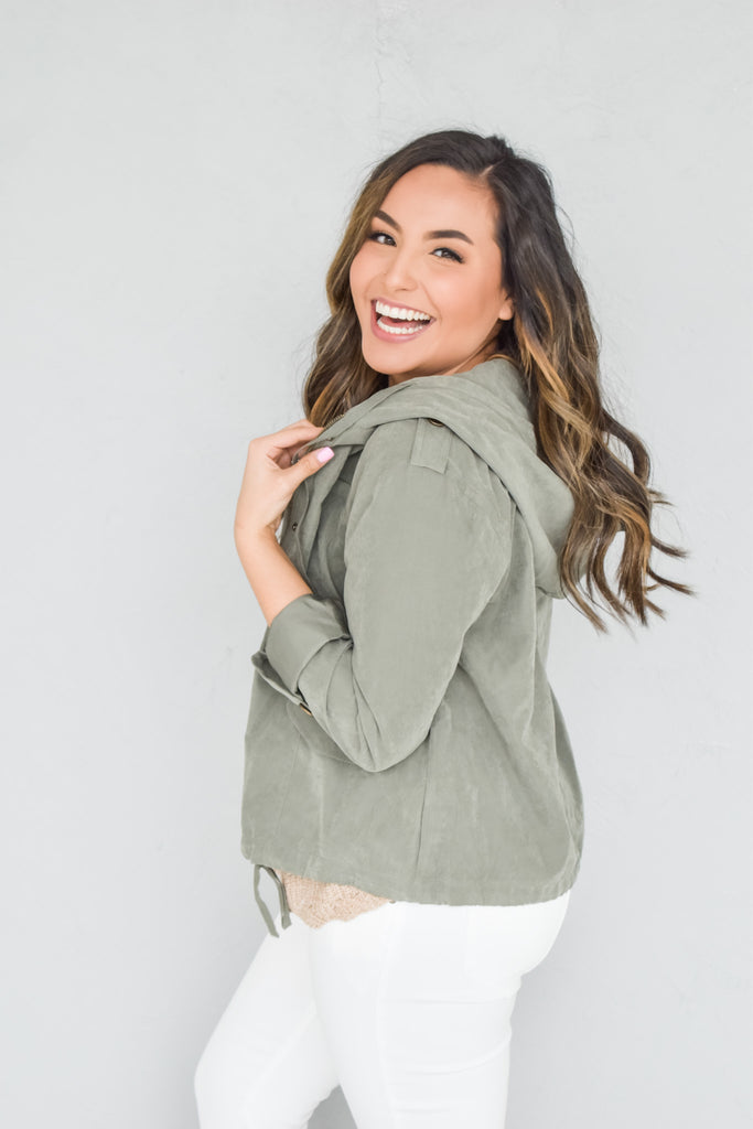 Sweetest Of All Jacket-Olive