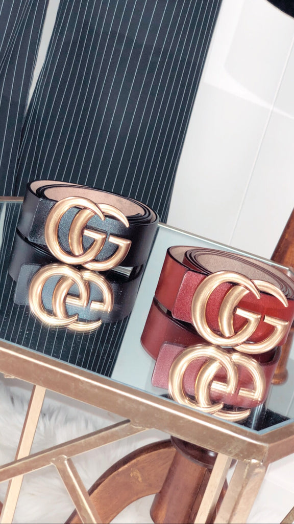 Double G Belt Brown - Large