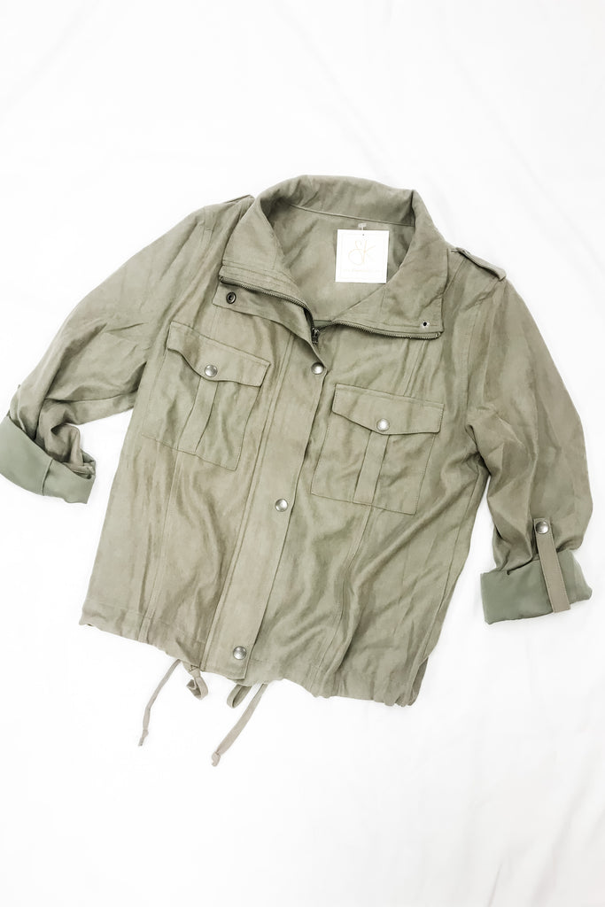 Bonfire Babe Jacket- Olive