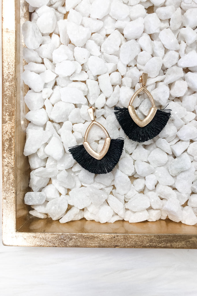 Get Festive Earrings- Black