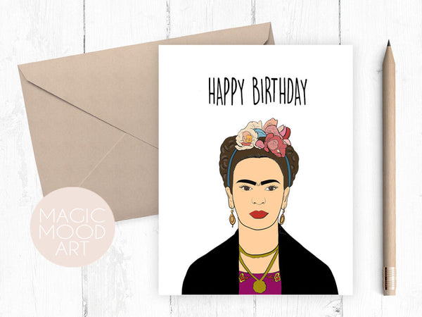 Happy Birthday Frida Kahlo Card