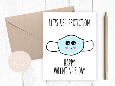 Let's Use Protection Greeting Card