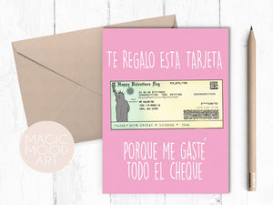 El Cheque Greeting Card