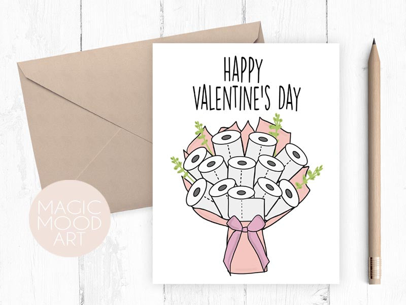 Toilet Paper Bouquet Greeting Card