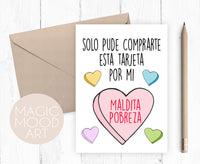 Maldita Pobreza Greeting Card