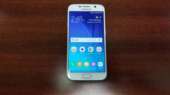 Samsung Galaxy S6 SM-G920W8 32GB White Pearl (Unlocked) - Good-Fair Condition