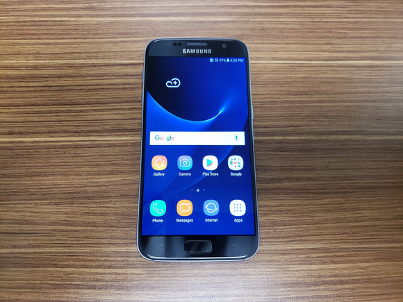 Samsung Galaxy S7 SM-G930W8 32GB Black Onyx (Unlocked) Very Good Condition