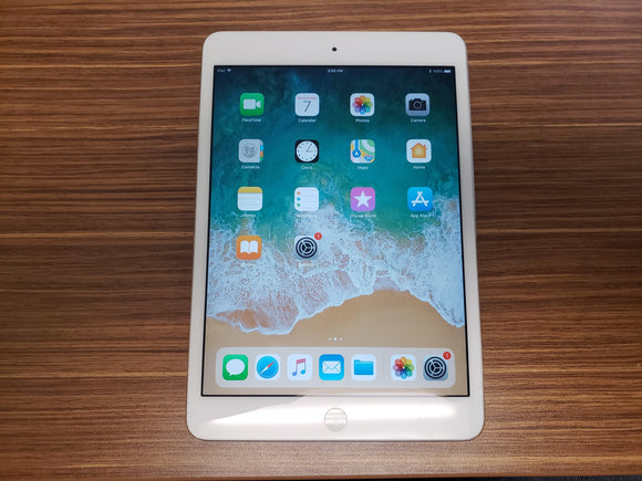 Apple iPad Mini 2nd Gen 128GB, Wi-Fi Only, White and Silver - Good-Fair Conditio
