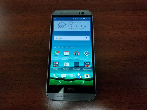 HTC One M8 0P6B160 32GB - Gunmetal Grey - (Unlocked) Good Condition - gorecell
