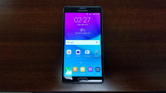 Samsung Galaxy Note 4 SM-N910W8 32GB Black (Unlocked) Fair Condition - gorecell